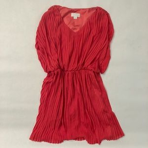 Jessica Simpson red pleated dress